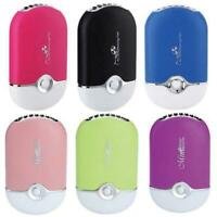 Portable Mini Personal Handheld Bladeless Fan USB Rechargeable Air Conditioner v