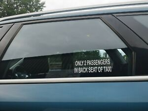 Only 2 Passengers in Back Seat decals