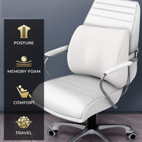 Office Chair Cushion Memory Foam Back Lumbar Support Car Seat Travel Pain Relief