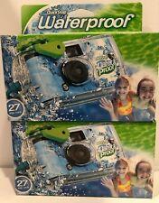 2 Disposable Cameras Quick Snap Waterproof Pool Underwater 35 mmFujiFilm 09/2020