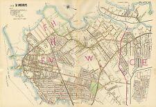 1914 PORTLAND, MAINE, FERRY VILLAGE, FORT PREBLE, WILLARD SQUARE, COPY ATLAS MAP