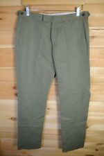 Reiss Linen & Cotton Blend Green Trousers Summer Chino 32""