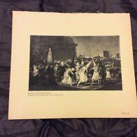 Vintage Book Print - A Procession of Flagellants - Goya - 1938