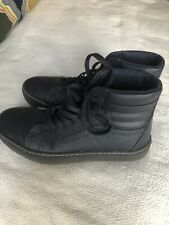 Vans Old School High Top Navy Blue Leather Oxford Size 7.5