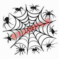 Duracoat Cerakote Spider Web Stencil Vinyl Paint Camouflage Camo Home DIY Decal