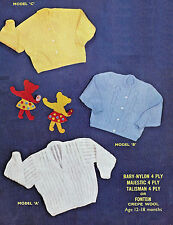 Toddler cardigan vintage knitting pattern 3 variations 12/18 mths 4 ply 119