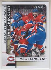 2017-18 O-Pee-Chee #576: Montreal Canadiens Team Checklist SHORT PRINT