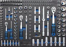 BGS volle 3/3 Werkstattwageneinlage Steckschlüsselsatz Pro Torque® 4036