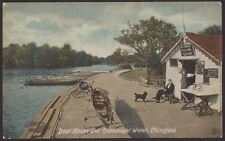 London. Chingford. Boat House & Connaught Water. 1918 & Card Interesting Message
