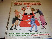 ARTS MENAGERS 12.1966 SPECIAL CUISINE de NOEL CADEAUX JOUETS MEUBLES ALSACE