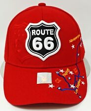 US ROUTE 66 Ball Cap Hat Mother Road Map Will Rogers Highway OSFM Adjustable New