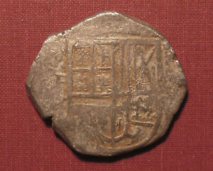 1621-1665 BOLIVIA, SPANISH COLONIAL COB 8 REALES - PHILIP IV, PORTOBELLO HOARD!