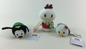 Holiday Goofy Donald Daisy Plush Tsum Tsum Itty Bittys 3pc Toys Disney Hallmark