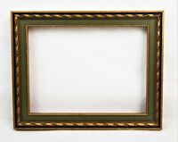 Vintage Small Picture Frame Gold Gilt Gesso Baroque Style Fits 8x6