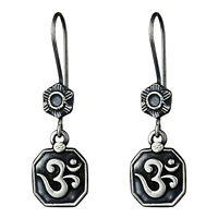 925 Sterling Oxidized Silver Plated dangle Earrings Jewelry 6.01 g cci