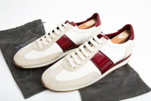 NEW TOM FORD Orford Colorblock Sneakers Low Top Trainer Red White 12UK 13US 45EU