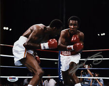 Sugar Ray Leonard Signed 8x10 Boxing Photo - Punch vs Hitman PSA/DNA COA