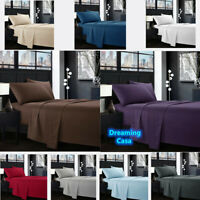 Hotel Luxury 1800 Count 4 Piece Deep Pocket Bed Sheet Set King Queen Size D3