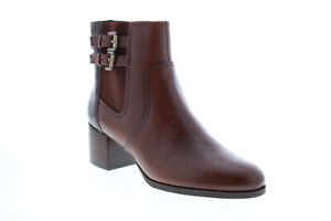 Geox Jacy Mid D94ESF0436YC0013 Womens Brown Leather Ankle & Booties Boots