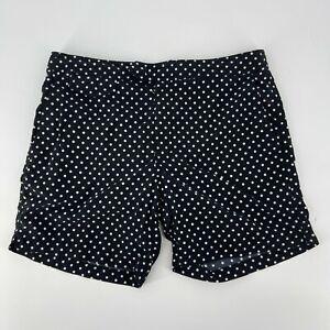 """J.Crew Swim Shorts Mens Size 31 Black White Polka Dot 6.5"""" Inseam Swim Trunks"""
