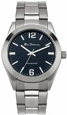 Ben Sherman Men's Quartz Watch with Blue Dial Analogue Display and Silver Stainl