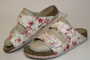 Birkenstock Germany Made Womens 6 37 Arizona Floral Print Sandals Footbed Shoes