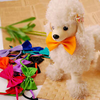 10Pcs Cute Pet Dog Cat Accessories Bow Tie Adjustable Necktie Collar Bowtie Gift