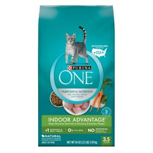 Purina One Purposeful Nutrition Indoor Advantage Cat Food 3.5 lb Bag
