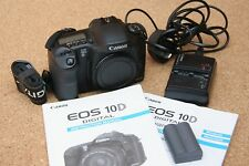 Canon EOS 10D DSLR body, with charger/cable, battery, strap, Very good condition