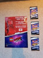 The Lego Movie 2 Awesome Collectors Album VIP 3x Trading Cards Sealed Genuine