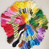24-200Color Cross Stitch Cotton Embroidery Thread Floss Sewing Skeins Crafts