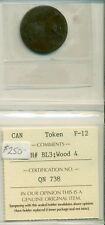 ICCS Canada Token F-12 CH# BL3; Wood 4 QN 738