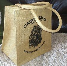 CAIRN RESCUE CHARITY Natural Jute SMALL SHOPPING BAG Cairn Terrier Dog