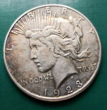 More details for 1923 usa 90% silver peace dollar  coin #008