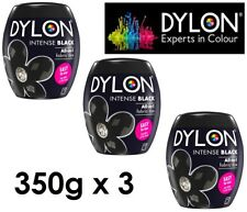 3 X DYLON Intense Black Machine Dye Pod 350g Permanent Colour Wash Dye All in 1