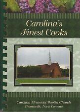 Thomasville NC Cookbook Carolina Memorial Baptist Church Carolina's Finest Cooks