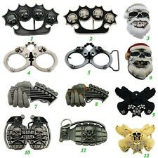 "Santa Claus Christmas Men""s Hand cuff Skull Belt Buckle Halloween Party Costume"
