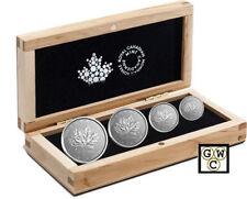 2018 Proof 4-Coin Platinum Maple Leaf Set .9995 Fine (18596) (NT)