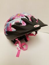 Bell White/Pink/Blue Floral Child Youth 50-54cm Bicycle Bike Helmet Racer M135C