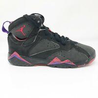Nike Boys Air Jordan 7 Retro 304774-041 Black Basketball Shoes Lace Up Size 6.5Y