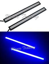 2x 6W COB Led DRL Daytime Running Light Fog Lamp Waterproof Universal Blue