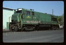 Original Slide NH&I New Hope & Ivyland U30B 402 In 1985 At New Hope PA