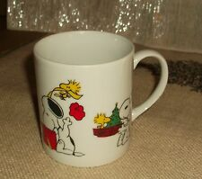 Snoopy Woodstock Peanuts Gang Porcelain Coffee Mug Determined Productions Used
