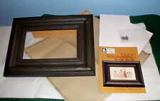HEART IN HAND LITTLE PUMPKIN PATCH CROSS STITCH KIT + EAST SIDE MOULDINGS FRAME