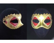 Gold Masquerade Gold Trim Mask Venetian Style Fancy Dress Face Eye Mask