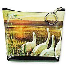 Universal Purse Bag Flying Swan Crane Sunset 3D Lenticular #PK-041-PAVIA#