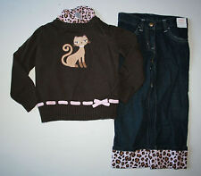 New Gymboree Sweater, Top & Jeans 3 Piece Set Outfit Size 3 Y NWT Glamour Kitty
