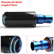 Motorcycle Stainless Steel  Exhaust Muffler Pipe Roasted Blue Silencer 38-48MM