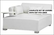 Ikea MYSINGE SOFA / Large Chaise Seat Cover Genarp White COVERS ONLY 401.056.70