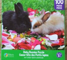 New 100 Piece Jigsaw Puzzle (Baby Bunnies) Great for kids and adults!!